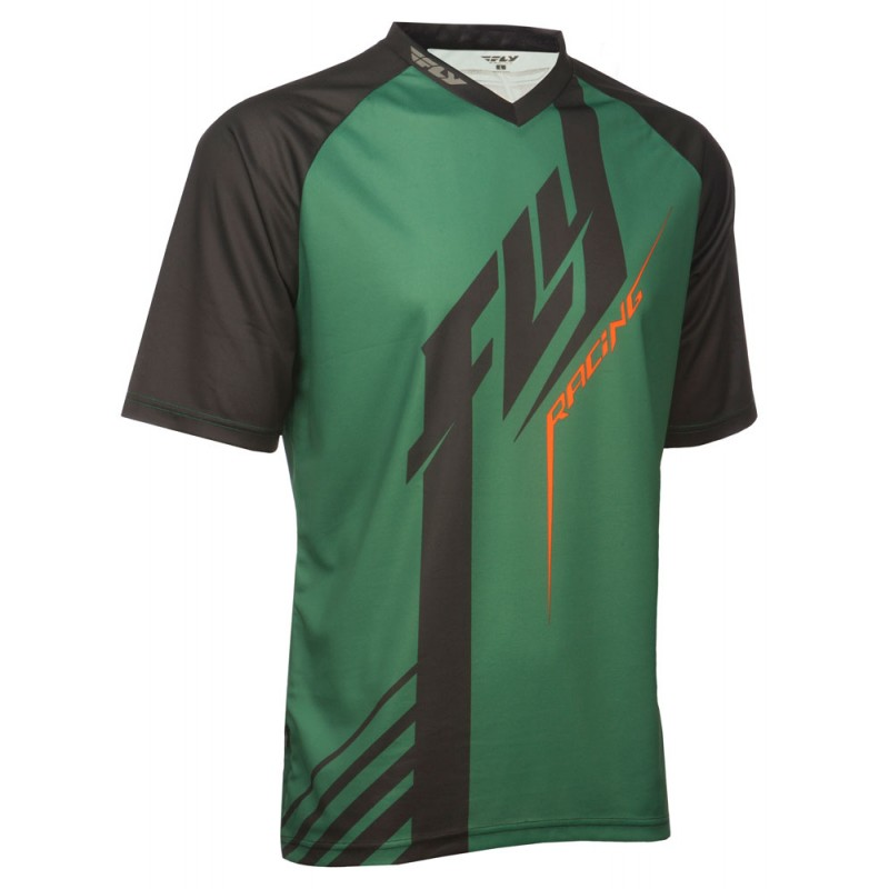 Fly Racing Shirt Super D olive-orange