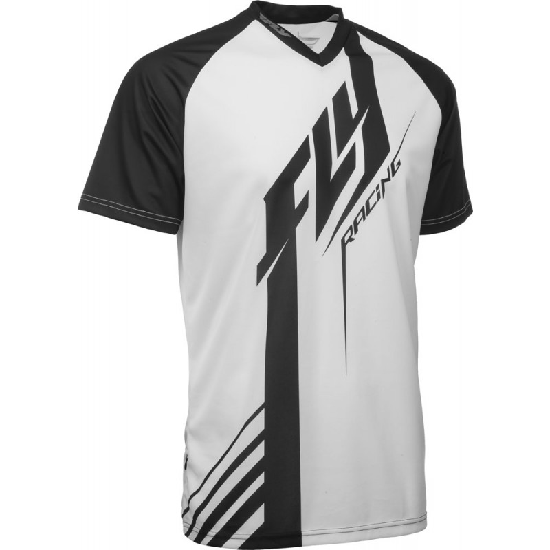 Fly Racing Shirt Super D schwarz-weiß