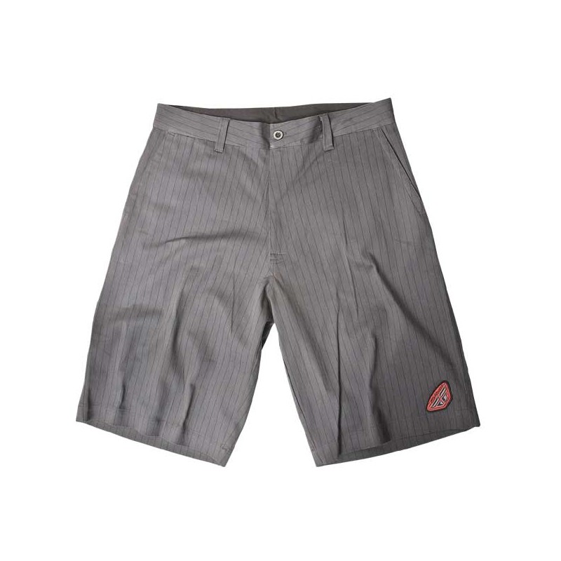 Fly Racing Short Pin-Stripe grau