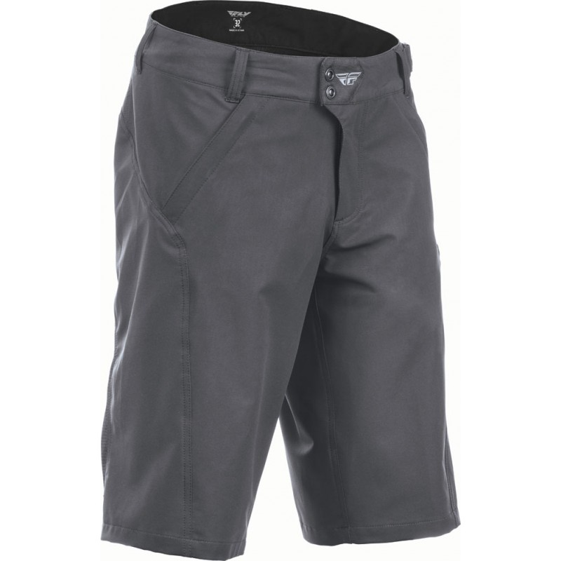 Fly Racing Short Warpath charcoal-grau