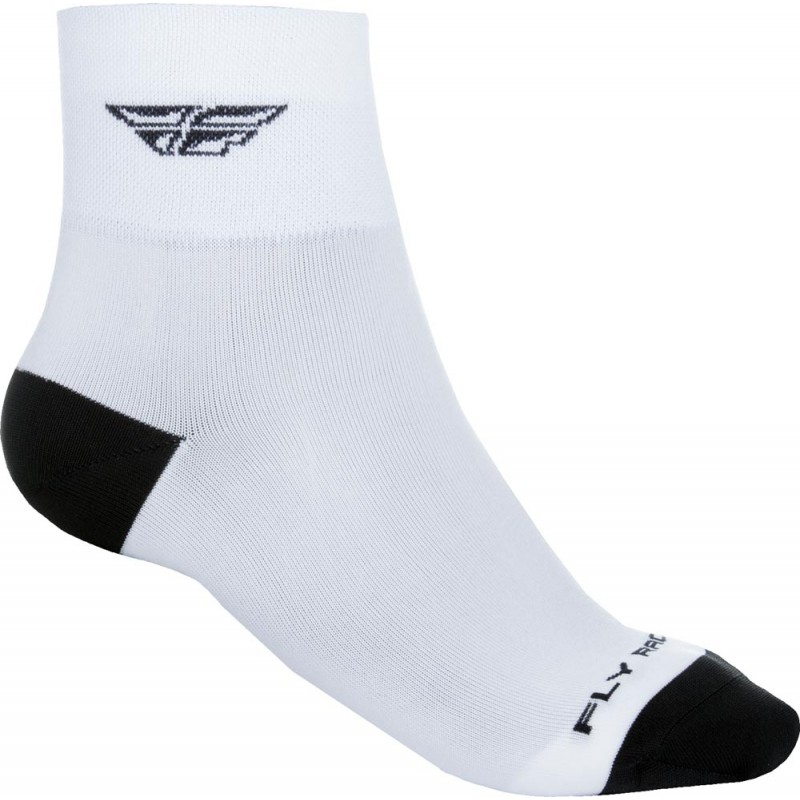 Fly Racing Socken Shorty weiß