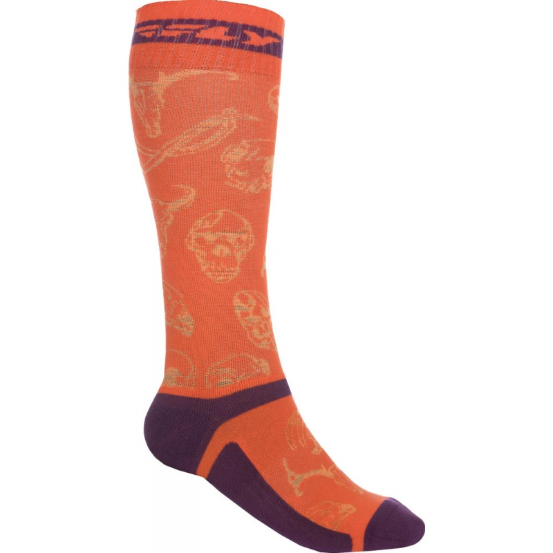 Fly Racing Socken dünn MX Pro orange-purple