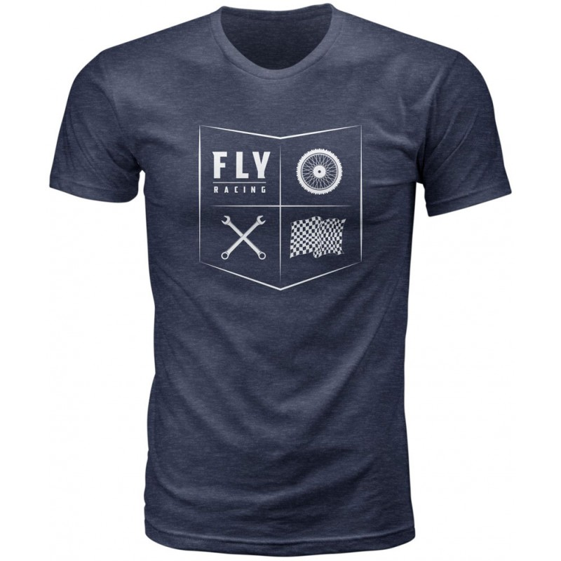 Fly Racing T-Shirt All Things Moto midnight navy