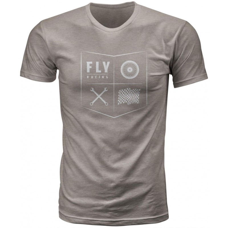 Fly Racing T-Shirt All Things Moto strone grau