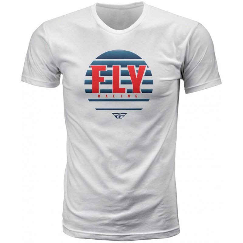 Fly Racing T-Shirt Circle weiß