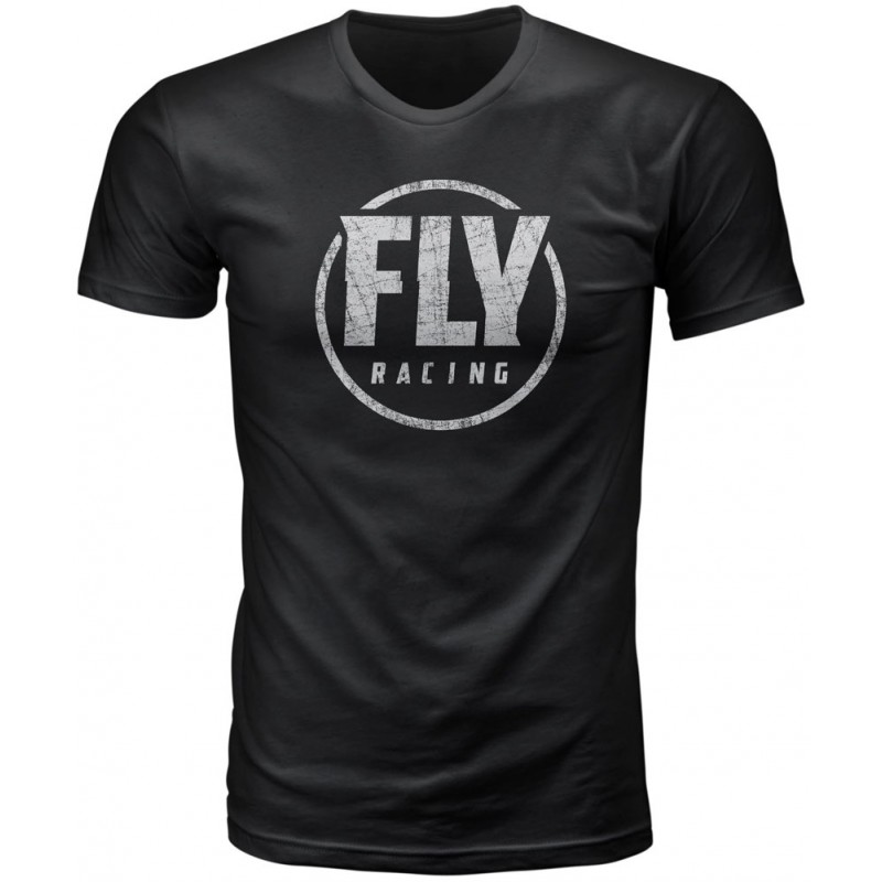 Fly Racing T-Shirt Coaster schwarz