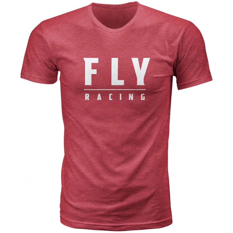 Fly Racing T-Shirt Logo cardinal rot