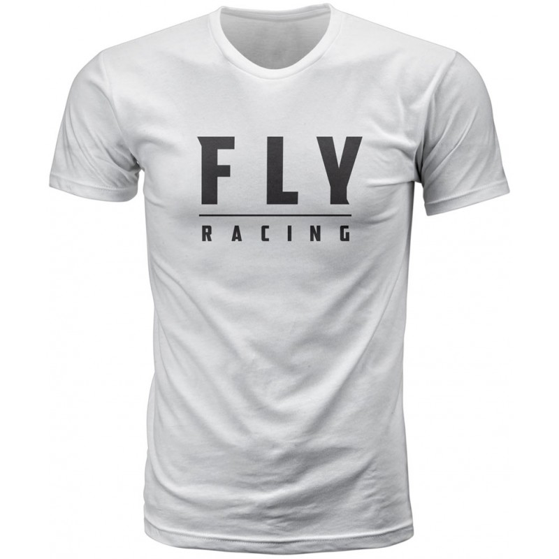 Fly Racing T-Shirt Logo weiß