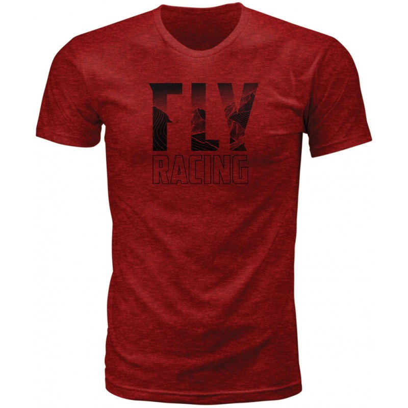 Fly Racing T-Shirt Mountain blaze-red-heather