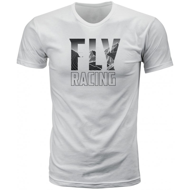 Fly Racing T-Shirt Mountain weiß