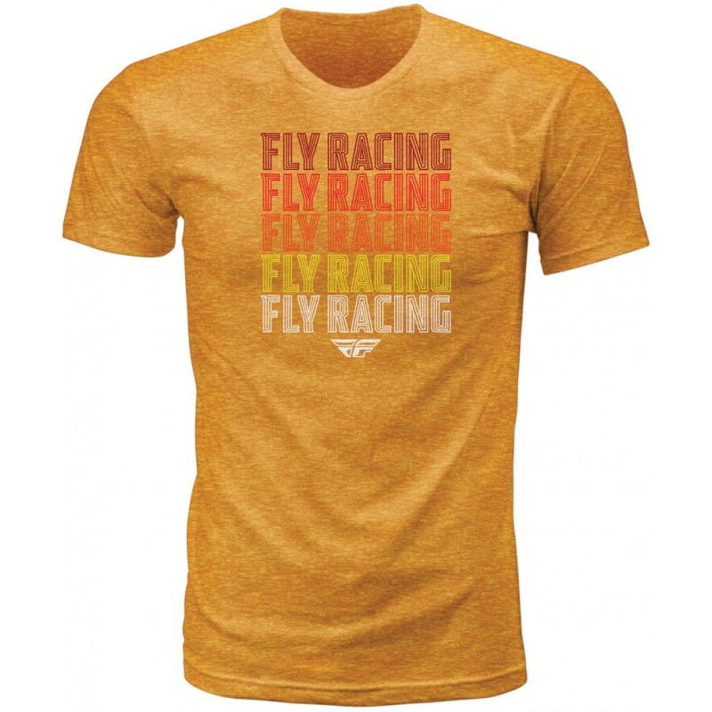 Fly Racing T-Shirt Nostalgia mustard-heather