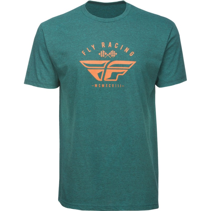 Fly Racing T-Shirt Patriarch cyan