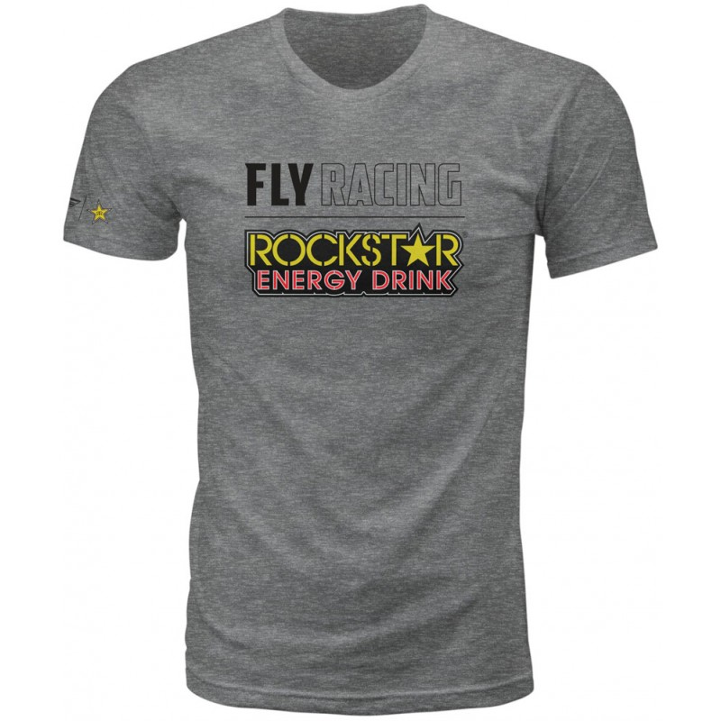 Fly Racing T-Shirt Rockstar Logo dunkelgrau-heather