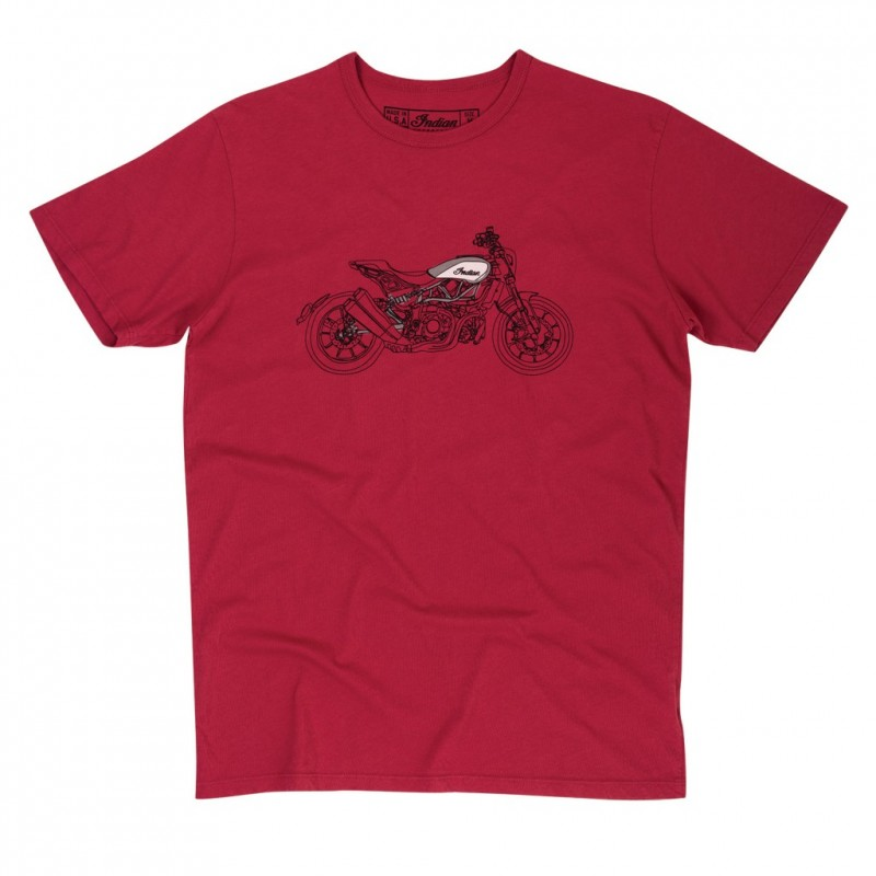 Indian Hand Drawn Bike Tee