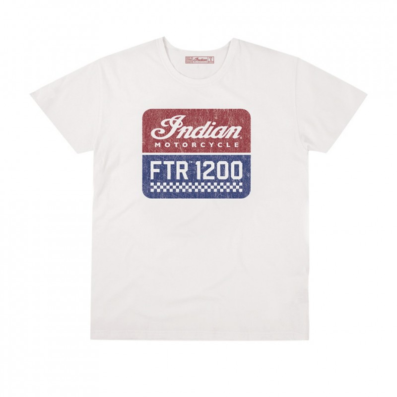 Indian Mens 1200 Logo Tee Ecru