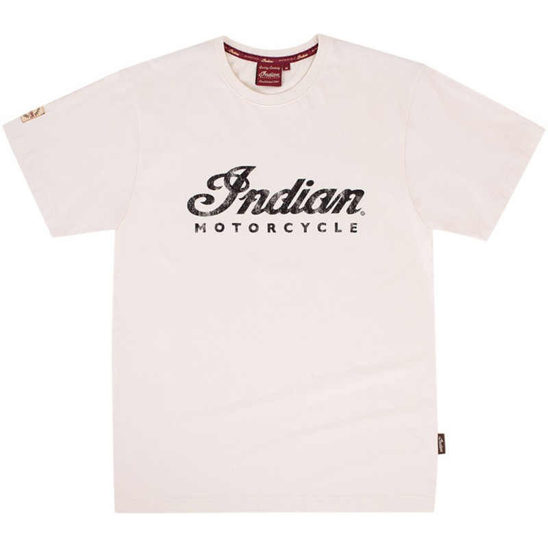 Indian Mens Antique withe Logo Tee