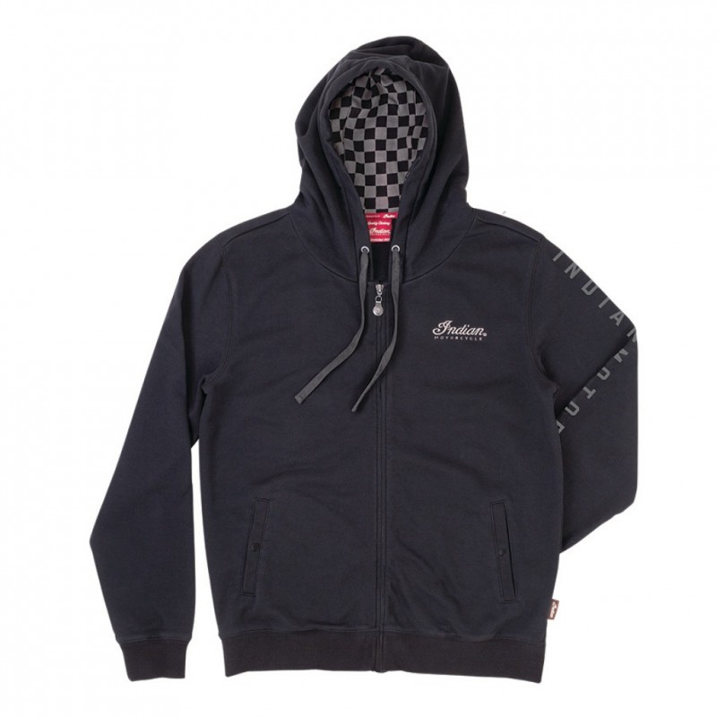 Indian Mens Checkered Hoodie