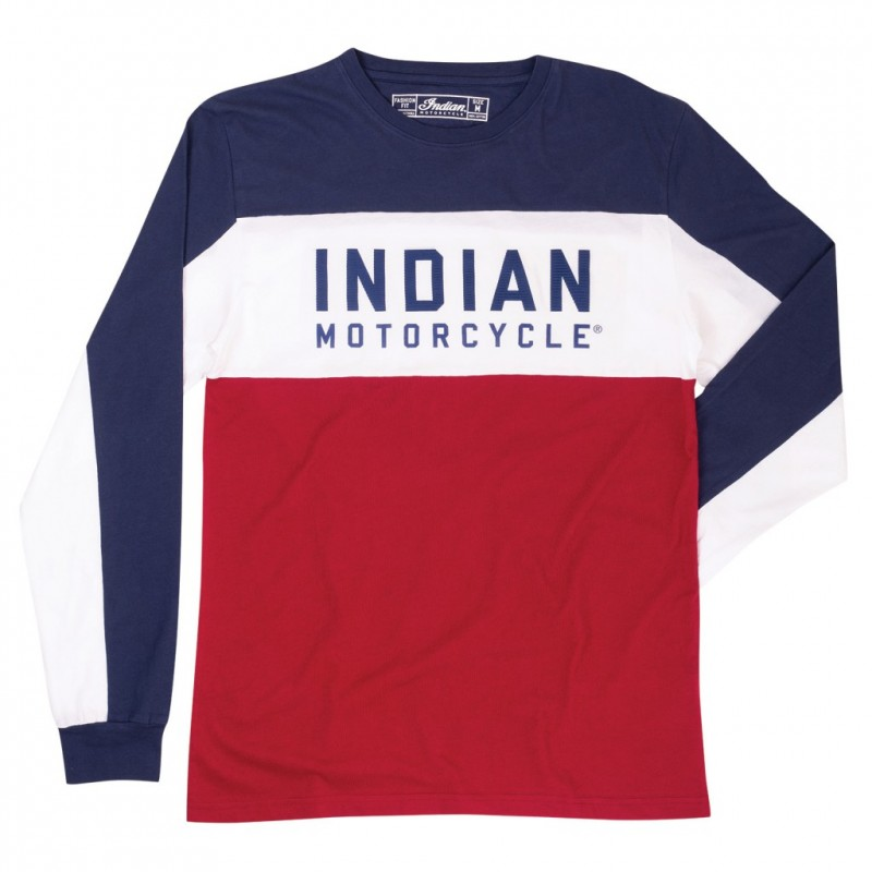 Indian Mens LS Color Block Tee