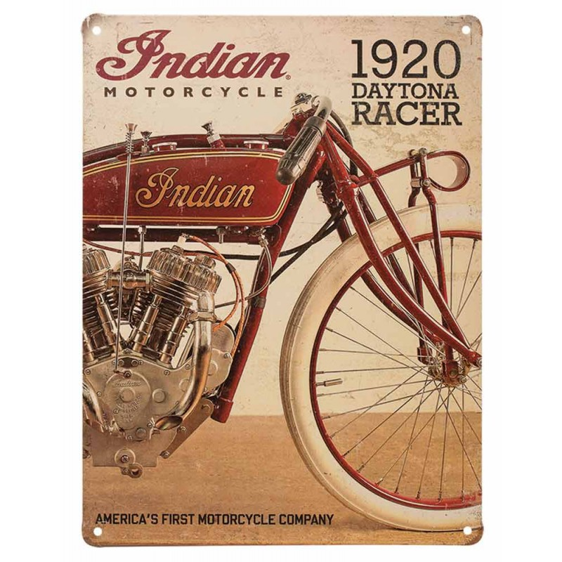 Indian Metallschild 1920 Daytona Racer 30x40cm