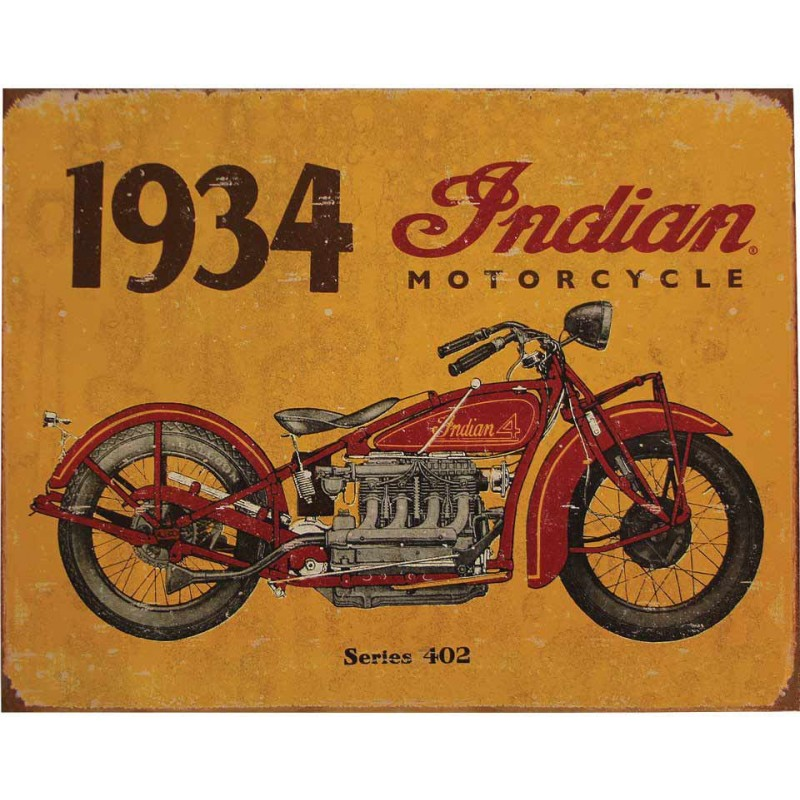 Indian Metallschild 1934