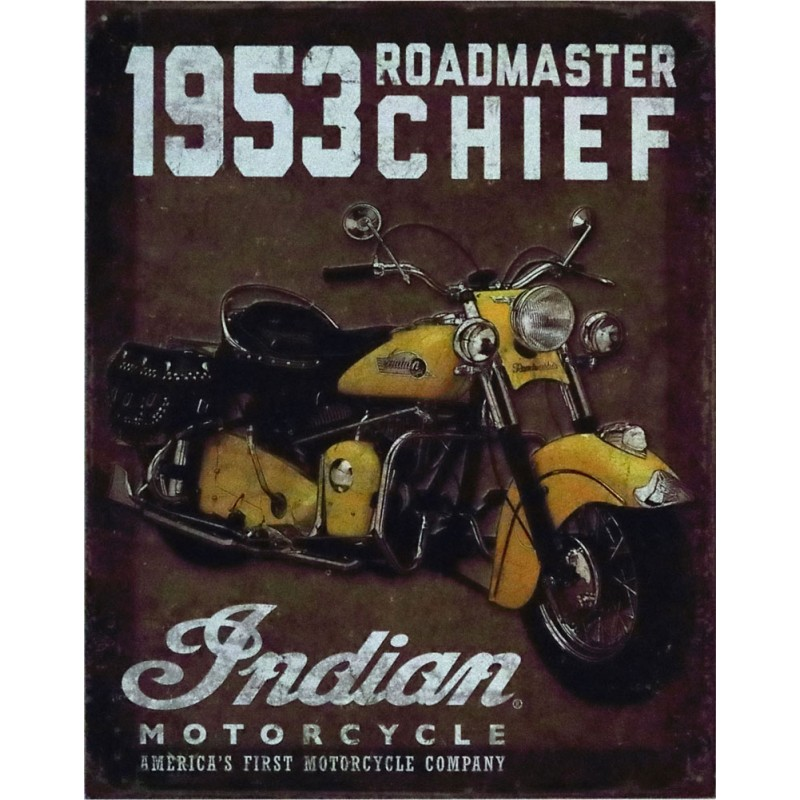 Indian Metallschild 1953 Roadmaster