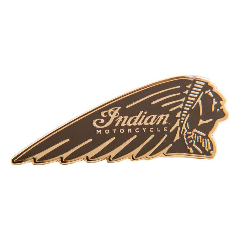 Indian Pin Warbonnet brown Indian Motorcycles