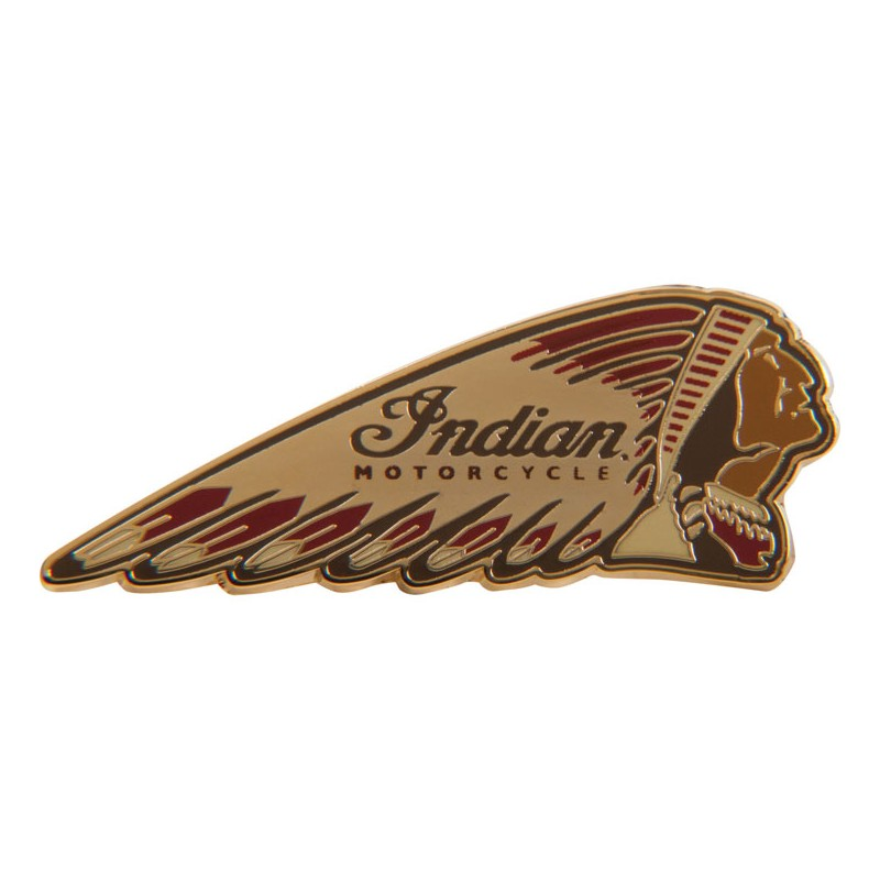 Indian Pin Warbonnet colored Indian Motorcycles
