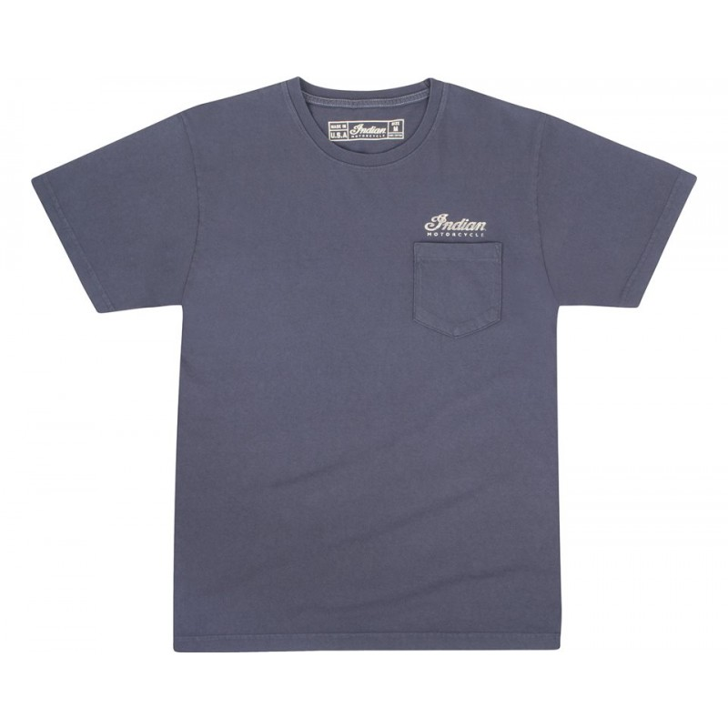 Indian T-Shirt Pocket blau
