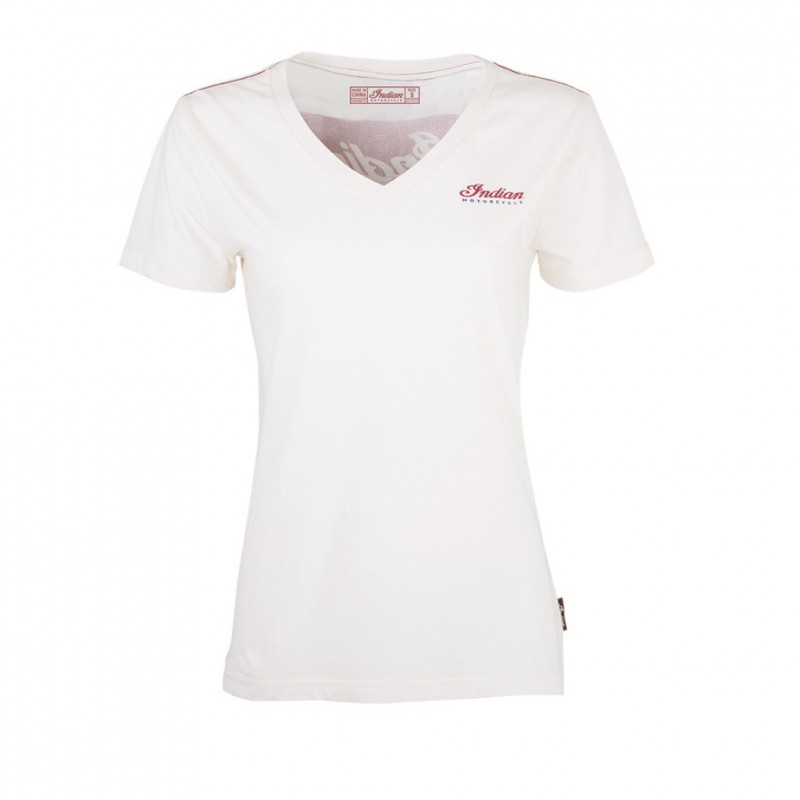 Indian Womens 1200 Logo Tee Ecru