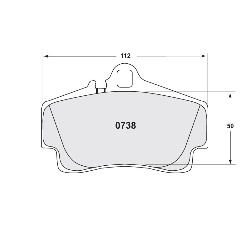 Performance Friction 0738 Z-RATED BRAKE PAD SET