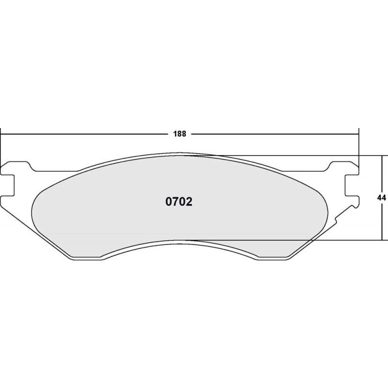 Performance Friction 702 Z-RATED BRAKE PAD SET