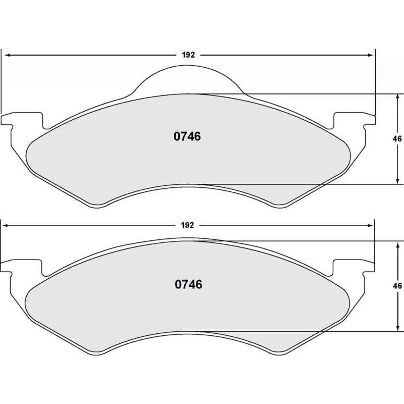 Performance Friction 746 CARBON METALLIC BRAKE PAD SET