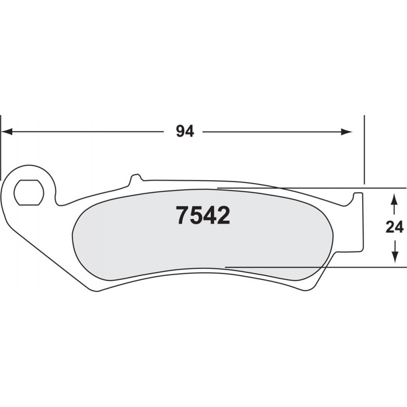 Performance Friction 7542 MOTORCYCLE PAD SET - 95 CMPD 08 MM