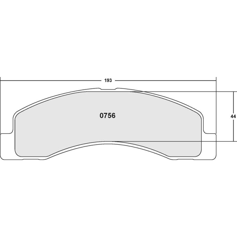 Performance Friction 756 Z-RATED BRAKE PAD SET