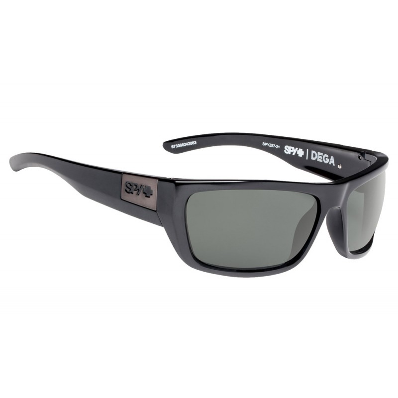 SPY OPTIC Dega Black Ansi RX - Happy Gray Green