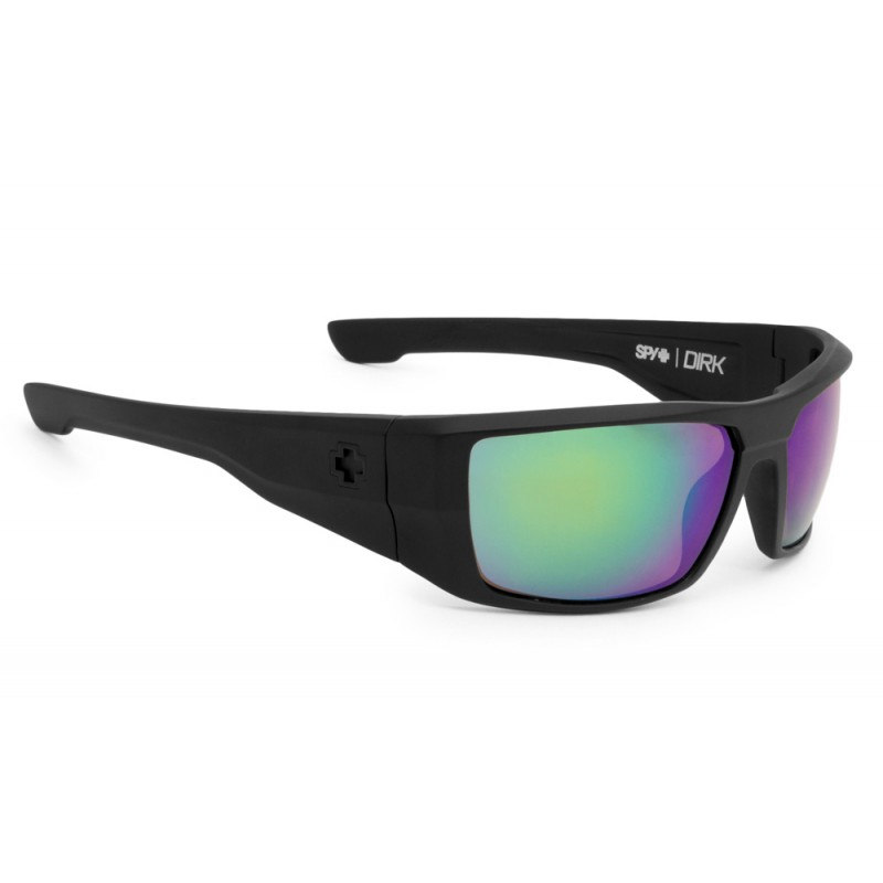 SPY OPTIC Dirk Matte Black - Happy Bronze Polarized w/Green