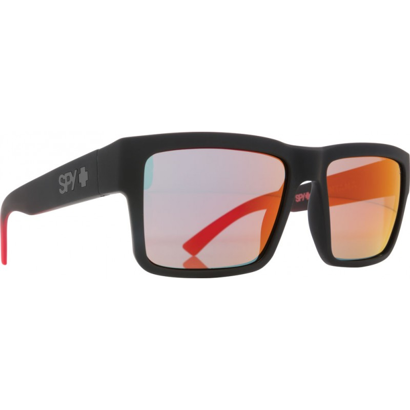 SPY OPTIC Sonnenbrille Montana Soft Matte Black/Red Fade