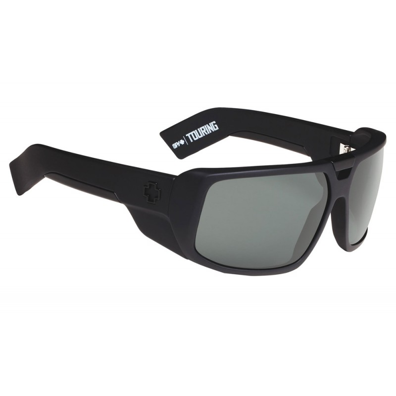 SPY OPTIC Touring Soft Matte Black - Happy Gray Gr