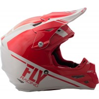 Fly Racing Helm F2 Carbon Rewire rot-grau