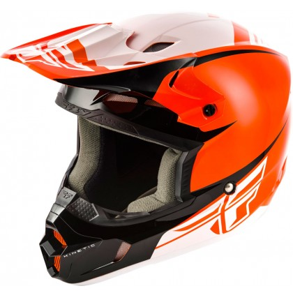 Fly Racing Helm Kinetic Sharp orange-schwarz