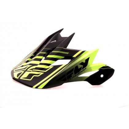 Fly Racing Helmschild Default matt-schwarz-neon