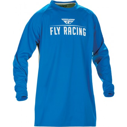 Fly Racing Hemd Windproof blau-grau