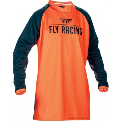 Fly Racing Hemd Windproof flo-orange-schwarz
