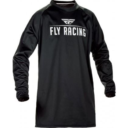 Fly Racing Hemd Windproof schwarz-grau