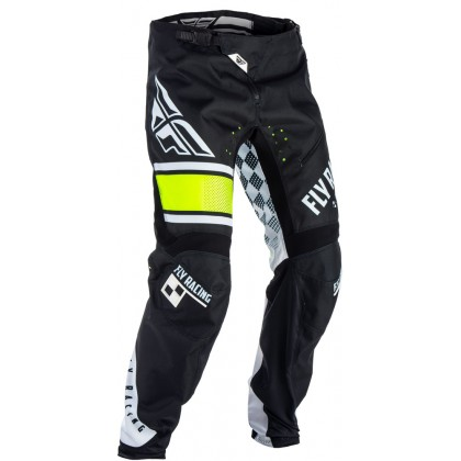 Fly Racing Hose Kinetic Kids MTB/BMX schwarz-weiß-hi-vis