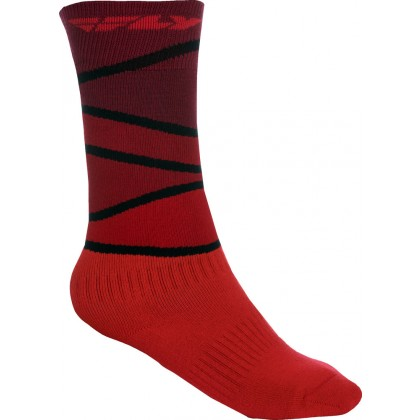 Fly Racing Socken dick MX rot-schwarz