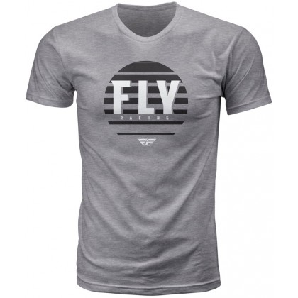Fly Racing T-Shirt Circle heather dunkelgrau
