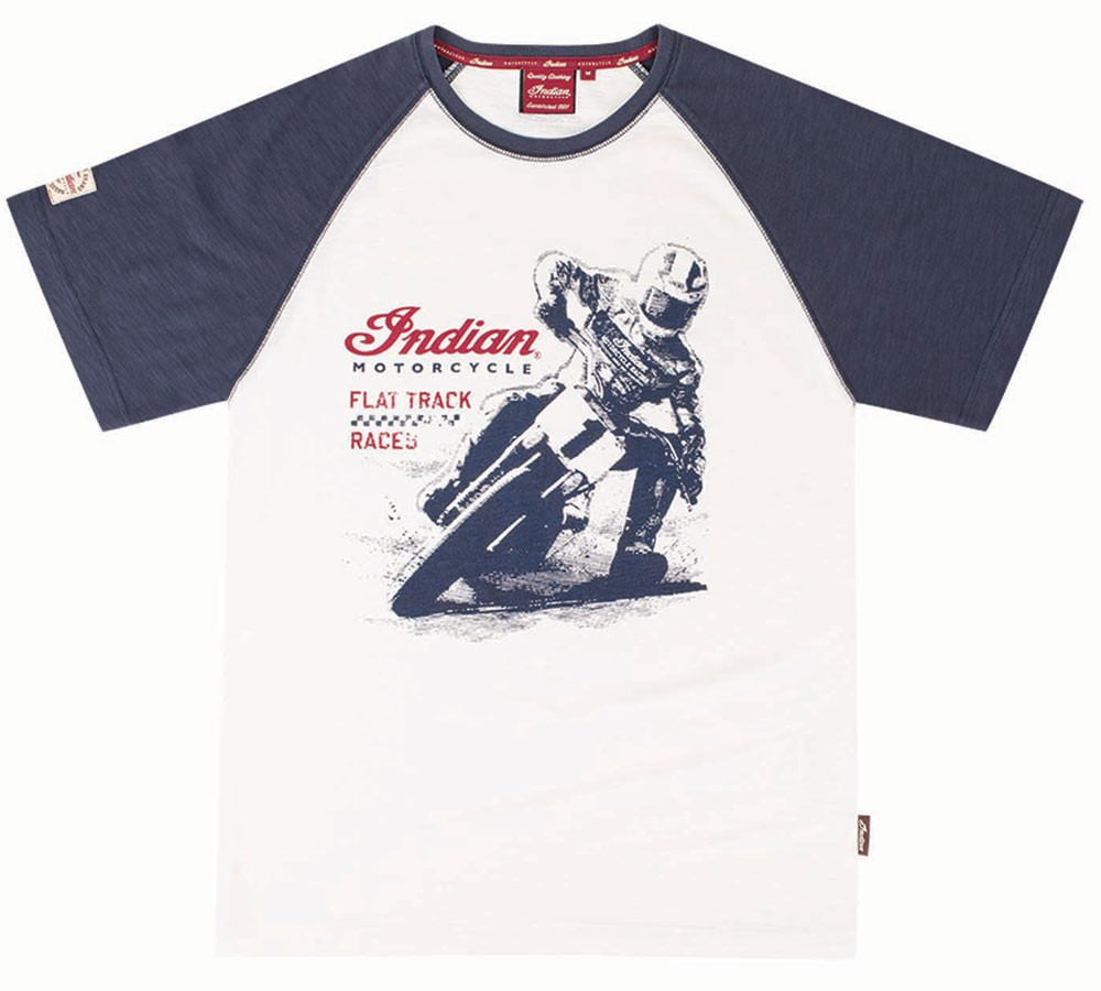 Indian Mens Flat Track Racer Tee