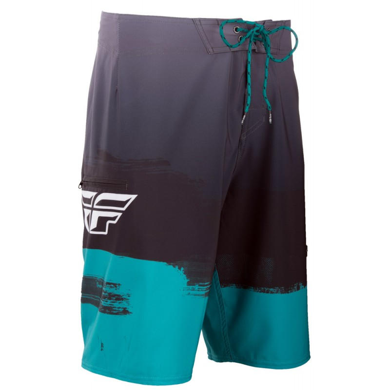 Fly Racing Paint Slinger Board Short schwarz-teal