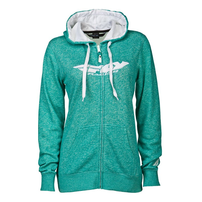 Fly Racing Hoodyjacket Girls Corp teal